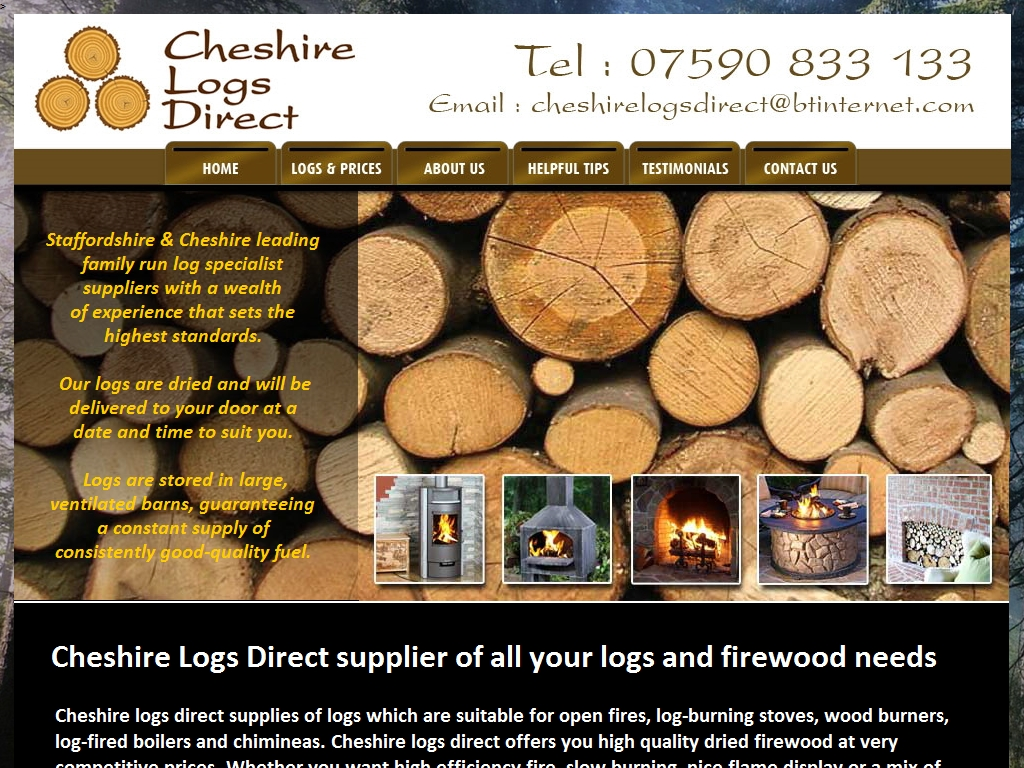 Cheshire Logs Direct: Services for owners of Woodburning