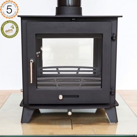 Defra Approved Ecosy +12-14kw  Double Sided Woodburning Stoves Multi Fuel  5 Year Guarantee -