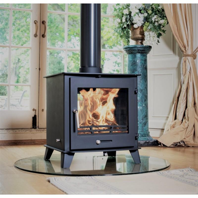 12 14kw Ottawa Clean Burn Contemporary Wood Burning Multi Fuel Stove