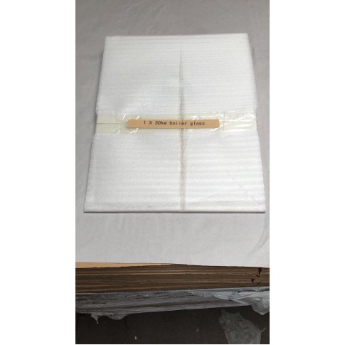 Replacement glass pane for 30kw BOILER multi-fuel stove 480mm x 370mm