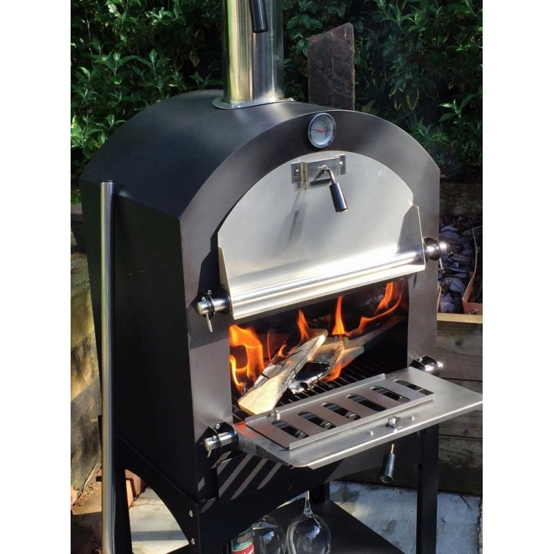 Cove Pizza Oven, Outdoor Oven, Garden Oven, Side BBQ on Outdoor Patio With Pizza Oven id=71923