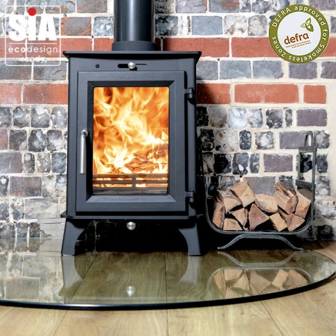 Ecosy+ Ottawa 5 ECO, Defra Approved -  Ecodesign Ready (2022) - 5kw Wood Burning Stove - 5 Year Guarantee