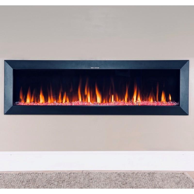 1524mm Flush Insert Or Wall Hung, Fake Fireplace Heater Insert