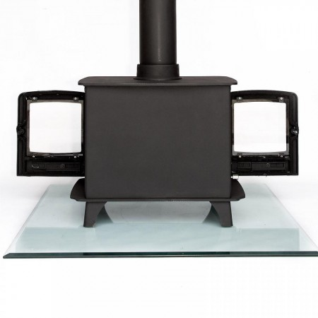 """PRE ORDER ONLY"" Ecosy+  8kw DOUBLE SIDED Multi-Fuel Woodburning Stove , WITH SECONDARY BURN, Dual Fronted"