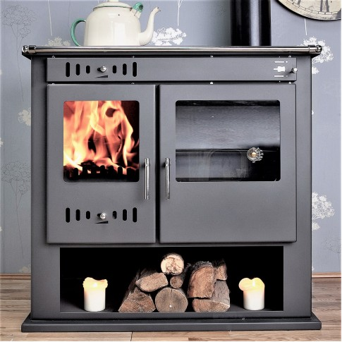 Victoria  Multi-Fuel Woodburning Range Cooker BACK BOILER Stove  Un vented / Vented Pressurised System