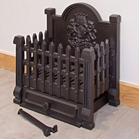 Regal Cast Iron Dog Grate - Fire Grate - Fire Basket (Wood and Coal)