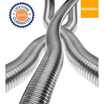 "5"" Schiedel Tecnoflex 316 Grade Build Your Own Flexible Liner Kit,  (£20.75 Per Meter) (From £103.75) LIFETIME GUARANTEE"