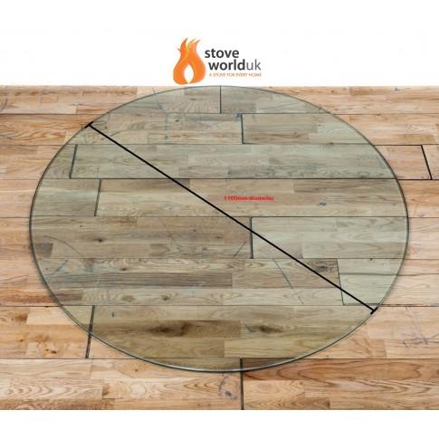 *OFFER* 12mm Circle / Circular Glass Hearth/Plinth Floor Plate 1100mm