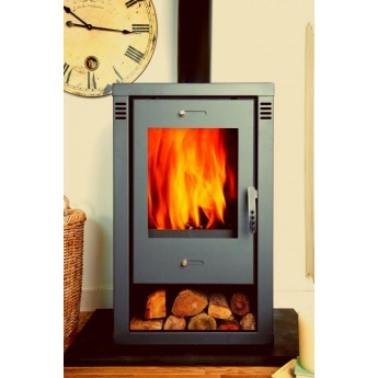 Noriko GREY Contemporary Woodburning Stove 9kw