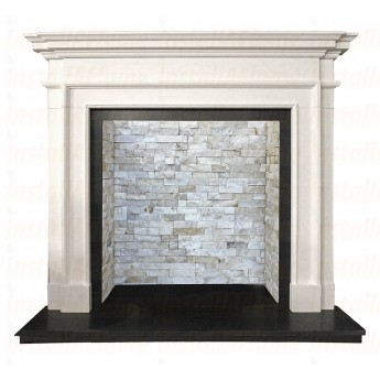 Crown Aegean Limestone Fireplace Surround / Mantle