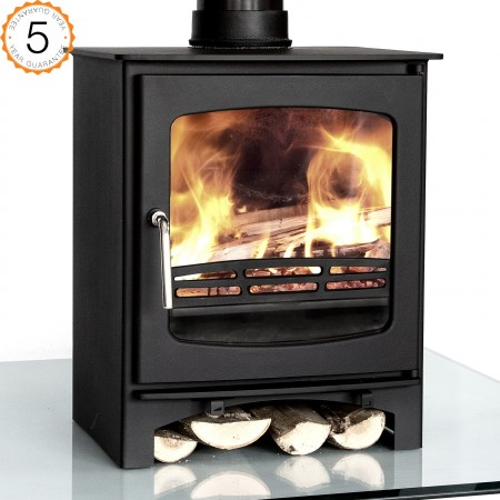 Purefire 7-8kw Curve Multi-Fuel Woodburning Stove Stoves Log Burner - 5 Year Guarantee