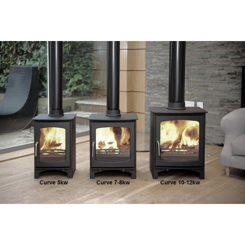 Ecosy 5kw Curve Contemporary Wood Burning Stoves Multi