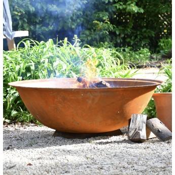 """Raw"" 1200mm Diameter 59KG Cast Iron Indian Fire Bowl"