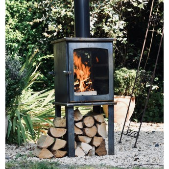 Ecosy+ Haven - Corten Steel Outdoor Woodburning Stove