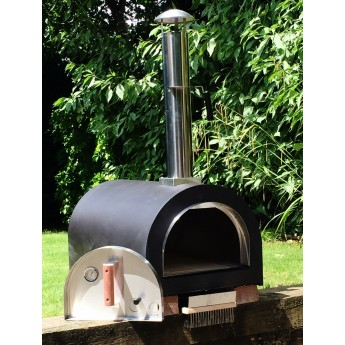 Dome (No stand)  Outdoor Stainless Steel Stone Base Pizza Oven, Garden Oven, Smoker, BBQ -