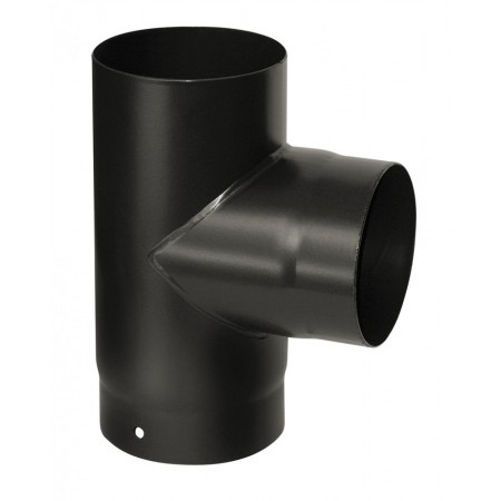 "90 degree 5"" (125mm) T PIECE with cap"