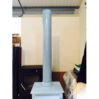 1000mm duck egg blue enamel flue pipe.