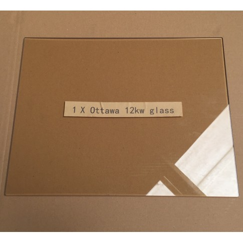 Replacement glass pane for Ecosy+ Ottawa 12kw multi-fuel stove