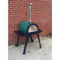 Green Machine Outdoor Stainless Steel Stone Base Pizza Oven, Garden Oven, Smoker, BBQ