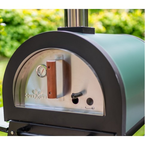 Green Machine (No stand)  Outdoor Stainless Steel Stone Base Pizza Oven, Garden Oven, Smoker, BBQ -