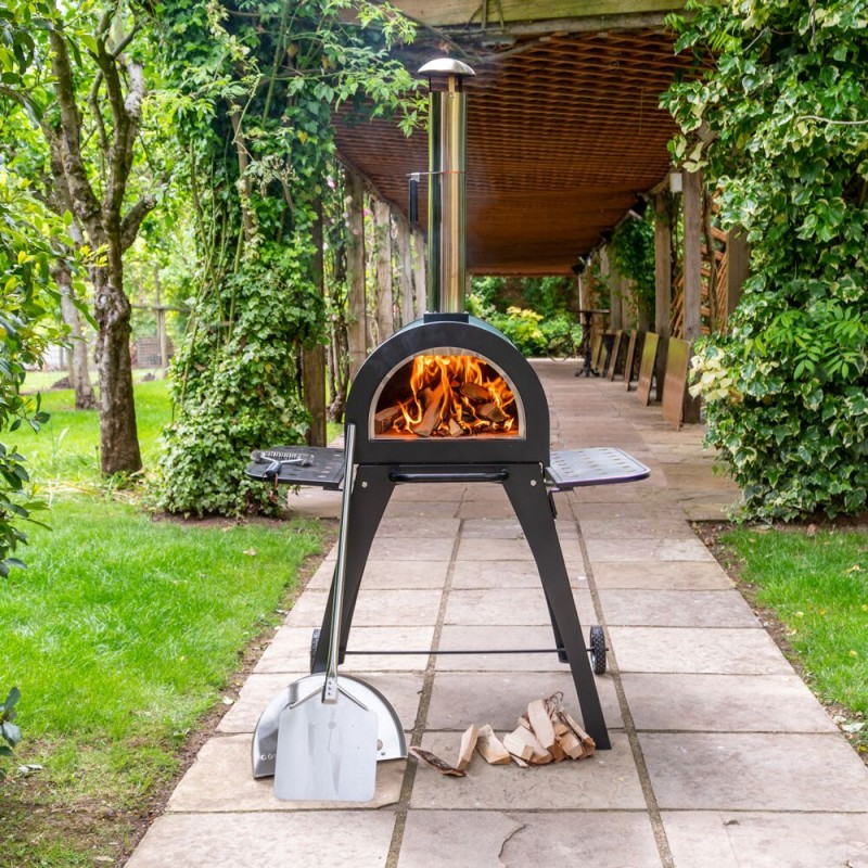 Cove Pizza Oven, Outdoor Oven, Garden Oven, Side BBQ on Outdoor Patio With Pizza Oven id=66723