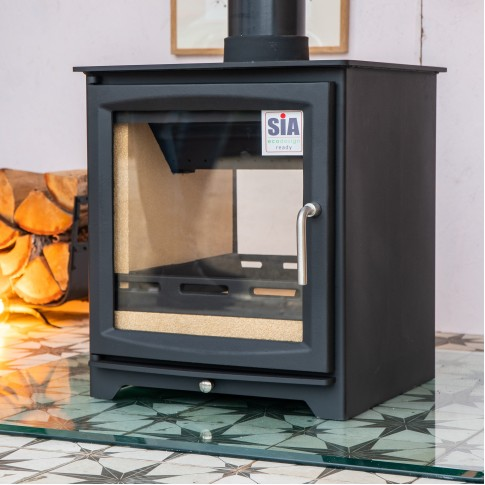 Hampton 6.4 Double Sided, Defra Approved, Ecodesign Ready (2022), Wood Burning Stove