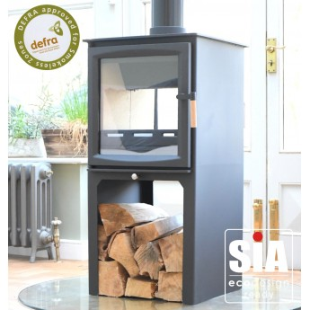 Ecosy+ Hampton 6.4 Double Sided, Defra Approved Wood Burning Stove - Tall Version