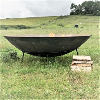 """Raw"" 1500mm Diameter Giant 160KG Cast Indian Fire Bowl  - BIGGEST IN THE UK??"