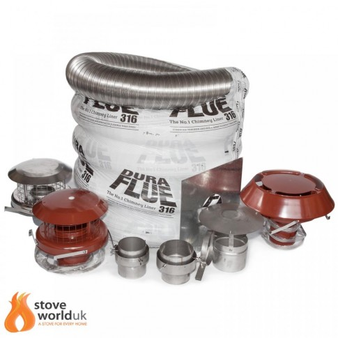 "316 Grade Build Your Own Flexible Liner Kit, 6"" (150mm) (From £108.75) 15 YEAR GUARANTEE"