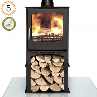 Defra Approved Ecosy+ Purefire 7-8kw With Stand  wood burning stove 5 year guarantee