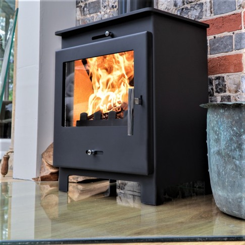 Nero 5 BLACK Contemporary Woodburning Stove  5kw V2