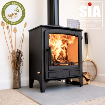 """Ecosy+ Newburn 5 Wide """"Idyllic"""" - 5kw - Defra Approved -  Eco Design Ready - Multi-Fuel - Stove - 5 Year Guarantee"""