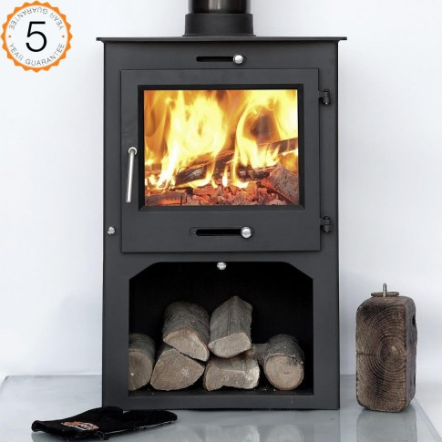 12kw Ottawa + Clean Burn WITH STAND Contemporary  Woodburning Stoves Multi Fuel  5 YEAR GUARANTEE