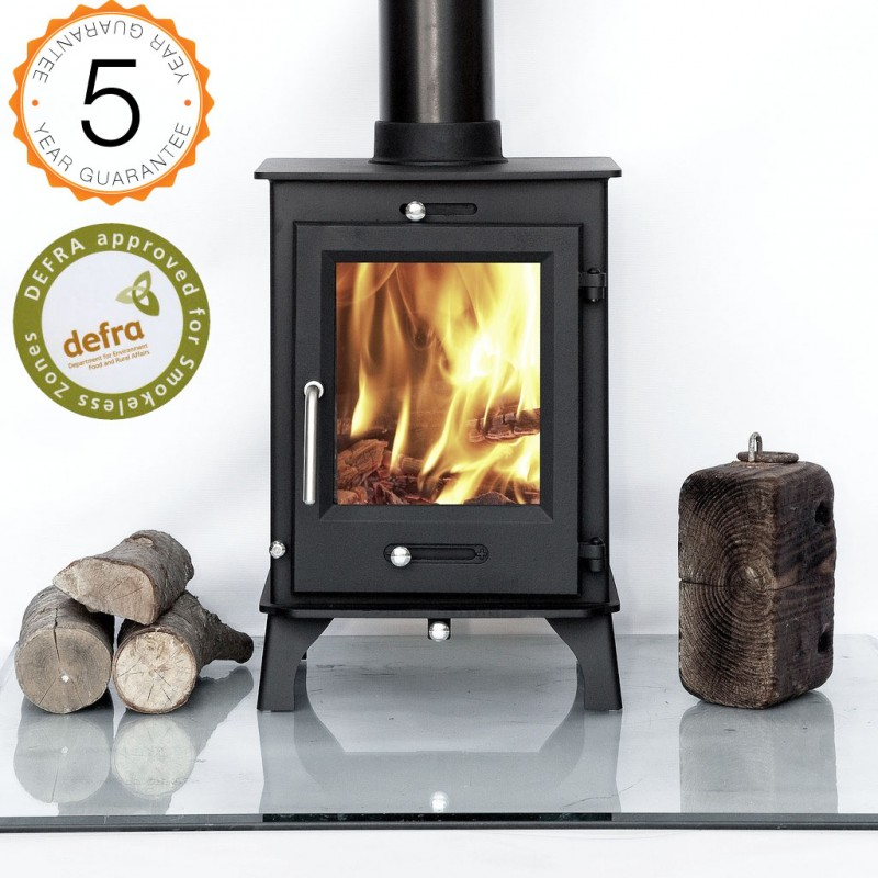 Defra approved 80 efficient ottawa 5kw contemporary wood for Small efficient wood stoves