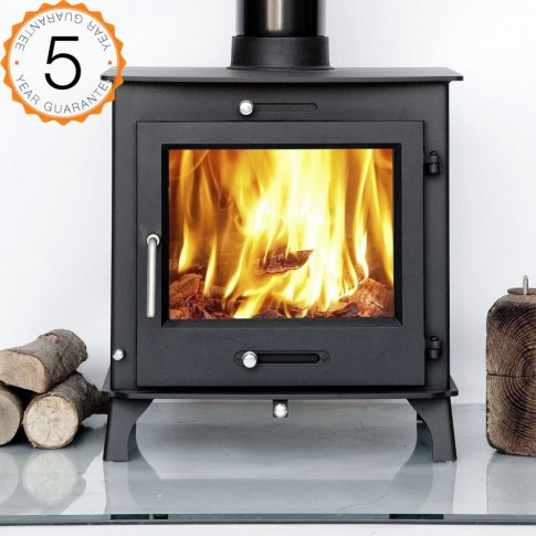 12kw OTTAWA + CLEAN BURN Contemporary  Woodburning Stoves Multi Fuel  5 YEAR GUARANTEE