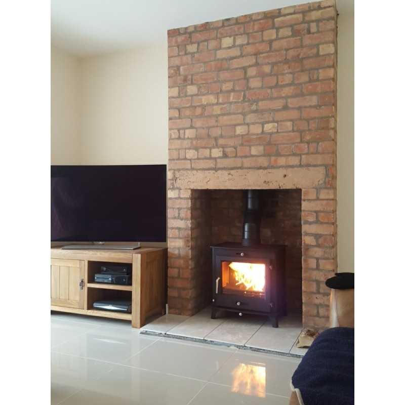 12kw OTTAWA CLEAN BURN Contemporary Woodburning Stoves Multi Fuel 5 YEAR GUARANTEE