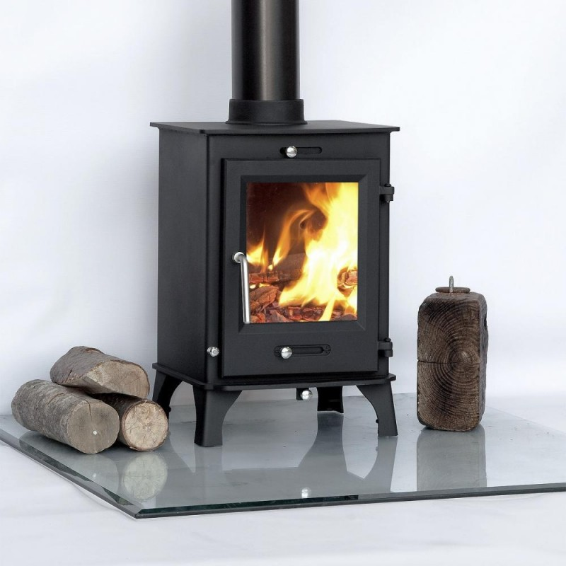 80% efficient, Ottawa 5kw Contemporary Woodburning Stoves