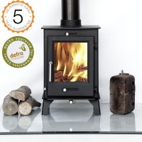 DEFRA APPROVED 80% efficient, Ottawa 5kw  Contemporary Woodburning Stoves Multi Fuel. 5 YEAR GUARANTEE -