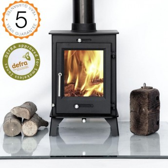 DEFRA APPROVED 80% efficient, Ottawa 5kw Woodburning Stoves Multi Fuel. 5 YEAR GUARANTEE -