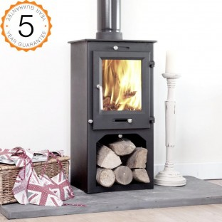 80% efficient, Ottawa 5kw Contemporary  Woodburning Stoves Multi Fuel With Stand  5 YEAR GUARANTEE