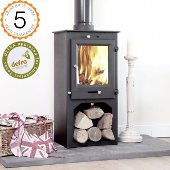 DEFRA APPROVED, 80% efficient, Ottawa 5kw Stand Contemporary  Wood Burning Stoves Multi Fuel.  5 YEAR GUARANTEE