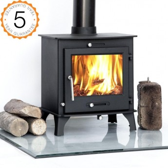7-8kw Ottawa Clean Burn Contemporary  Woodburning Stoves Multi Fuel  5 YEAR GUARANTEE -