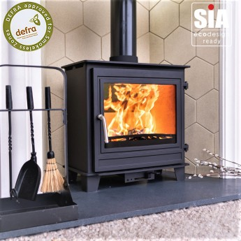 Ecosy+ Panoramic Traditional - Defra Approved, 5kw , Eco Design Ready (2022) - Woodburning Stove - 5 Year Guarantee