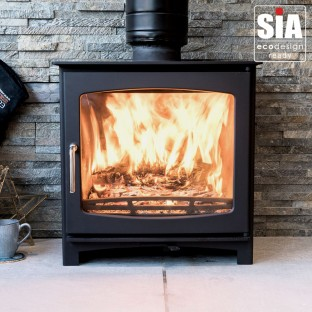 5kw Eco Design Ready (2022) - Slimline Ecosy+ Panoramic Wood Burning Stove - 5 YEAR GUARANTEE