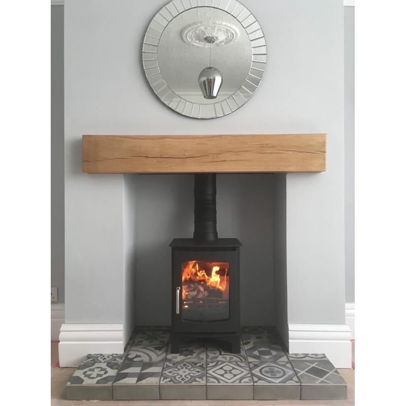 85 Efficient Ecosy Curve 5kw Contemporary Woodburning