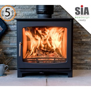 """PRE ORDER"" 5kw Eco Design Ready (2022) - Slimline Ecosy+ Panoramic Wood Burning Stove - 5 YEAR GUARANTEE"