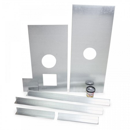 "Register Plate Kit 6"" 1000mm x 400mm ""No inspection plate"""