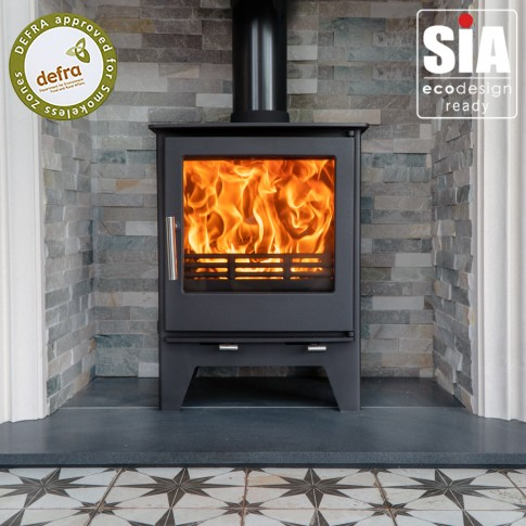 Ecosy+ Snug 7 to 10kw  Multi-Fuel, 2022 Eco Design Ready , Defra Approved Stove