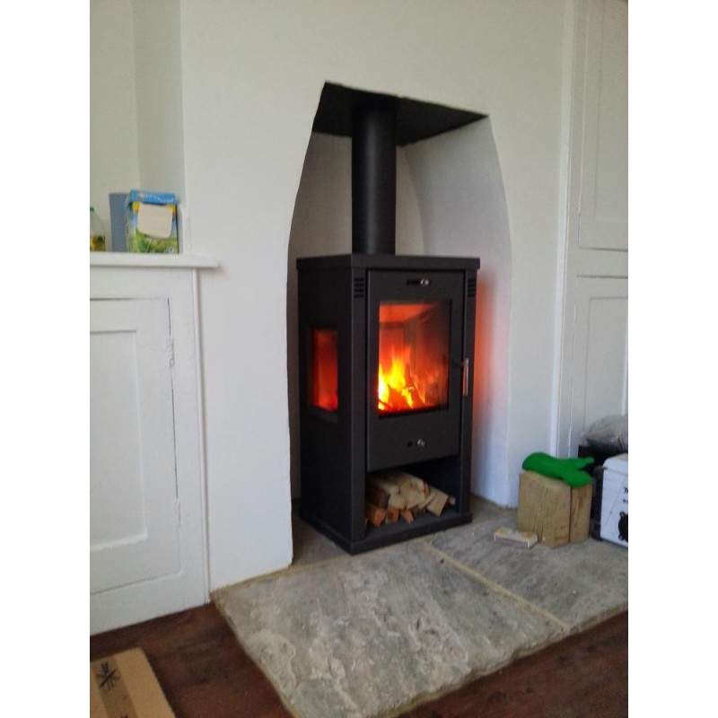 tulin contemporary woodburning stove 7 8kw