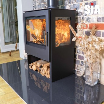 ZONA Indoor Outdoor 3 Sided Woodburning Stove -  European Built